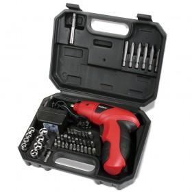 Destornillador eléctrico inalámbrico con 44 puntas en maletín
