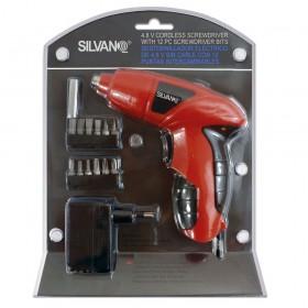 Destornillador eléctrico inalámbrico con 12 puntas